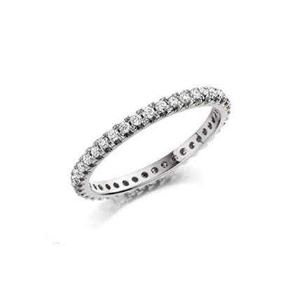 Full round brilliant cut diamond eternity ring in 18ct white gold. The diamonds are claw set and have on average 2.00 ct of H/Si quality diamonds (depending on finger size)  THIS RING IS ONLY AVAILABLE IN A SIZE L (LIMA)  If the size you require is not listed pl