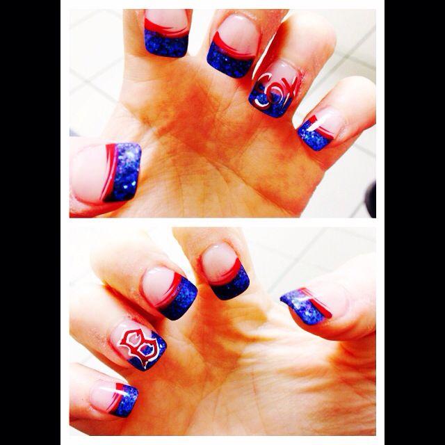 Boston Red Sox Nails Gel Nail Designs