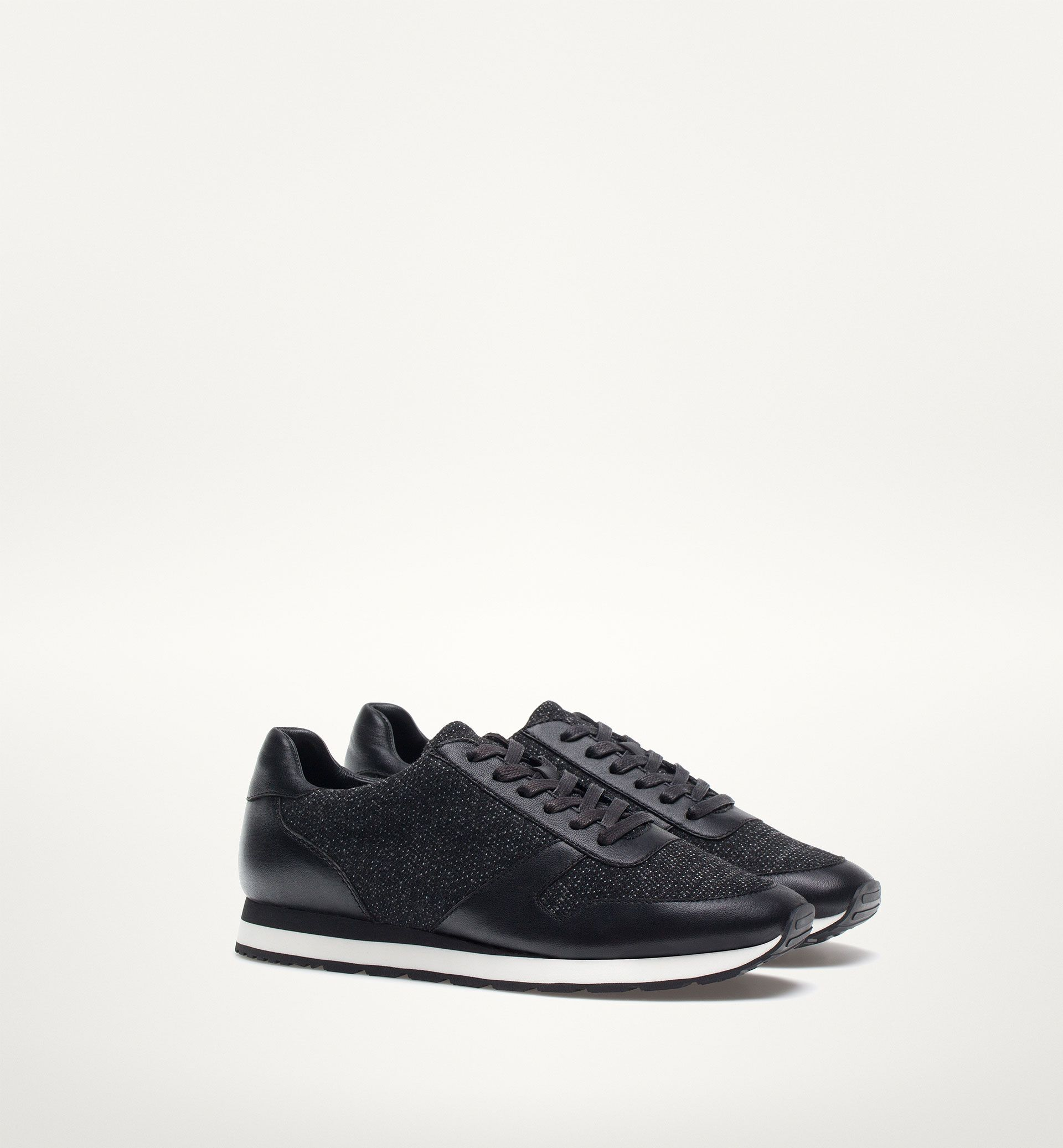 0e1faf9c87 SNEAKER NEGRA - massimo dutti | Sneakers | Black sneakers, Shoes ...