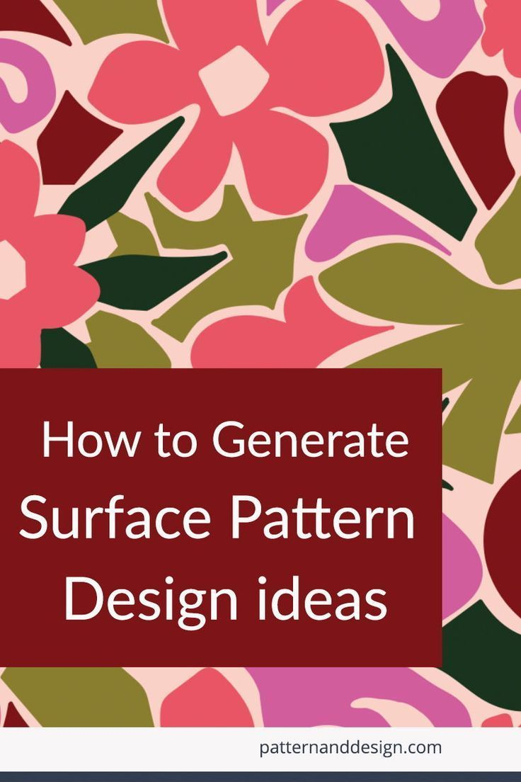 How to generate surface pattern design ideas