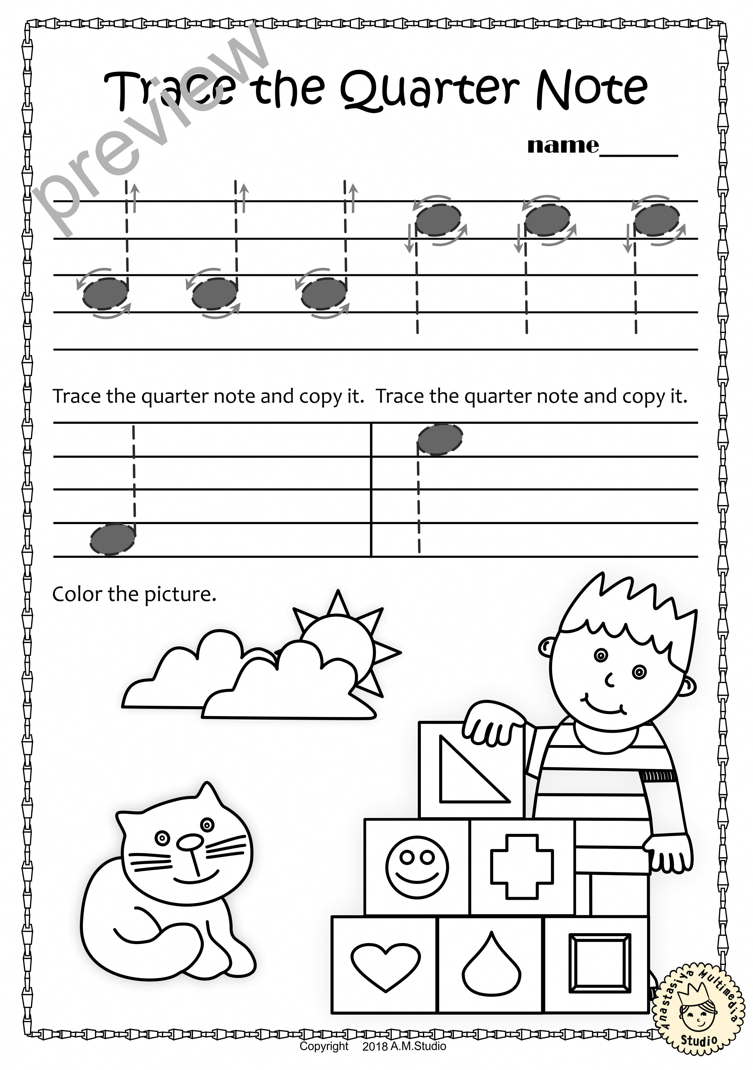 A Set Of 20 Summer Themed Music Worksheets Is Created To Help Your Students Learn To Trace Cop Music Theory Worksheets Elementary Music Worksheets Music Notes
