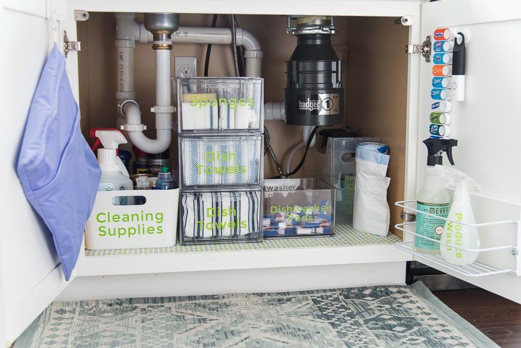 How To Organize Under The Kitchen Sink Christene Holder Kitchen Sink Organization Under Kitchen Sink Organization Under Sink Organization