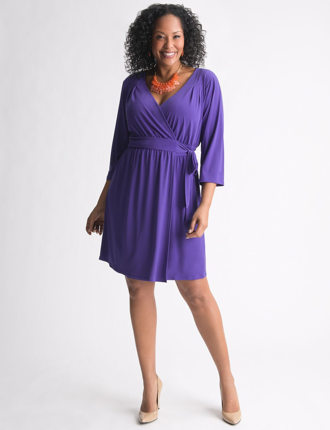 My favorite wrap dress! The Wrap Dress by Lane Bryant, available at ...