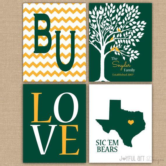 Baylor University Custom Family Printable Love Bird Tree Wall Art Rhpinterest: Baylor Home Decor At Home Improvement Advice