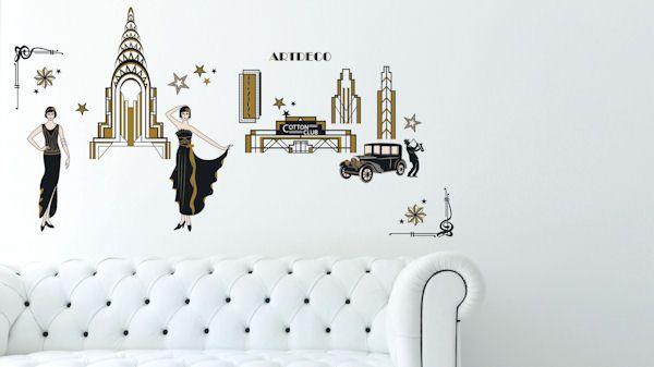 Art Applique Art Deco Wall Stickers Wall Sticker Outlet Wall