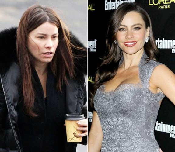 Odd Orbit News Oddities Around The World Sofia Vergara Celebs Without Makeup Without Makeup Celebrities Before And After