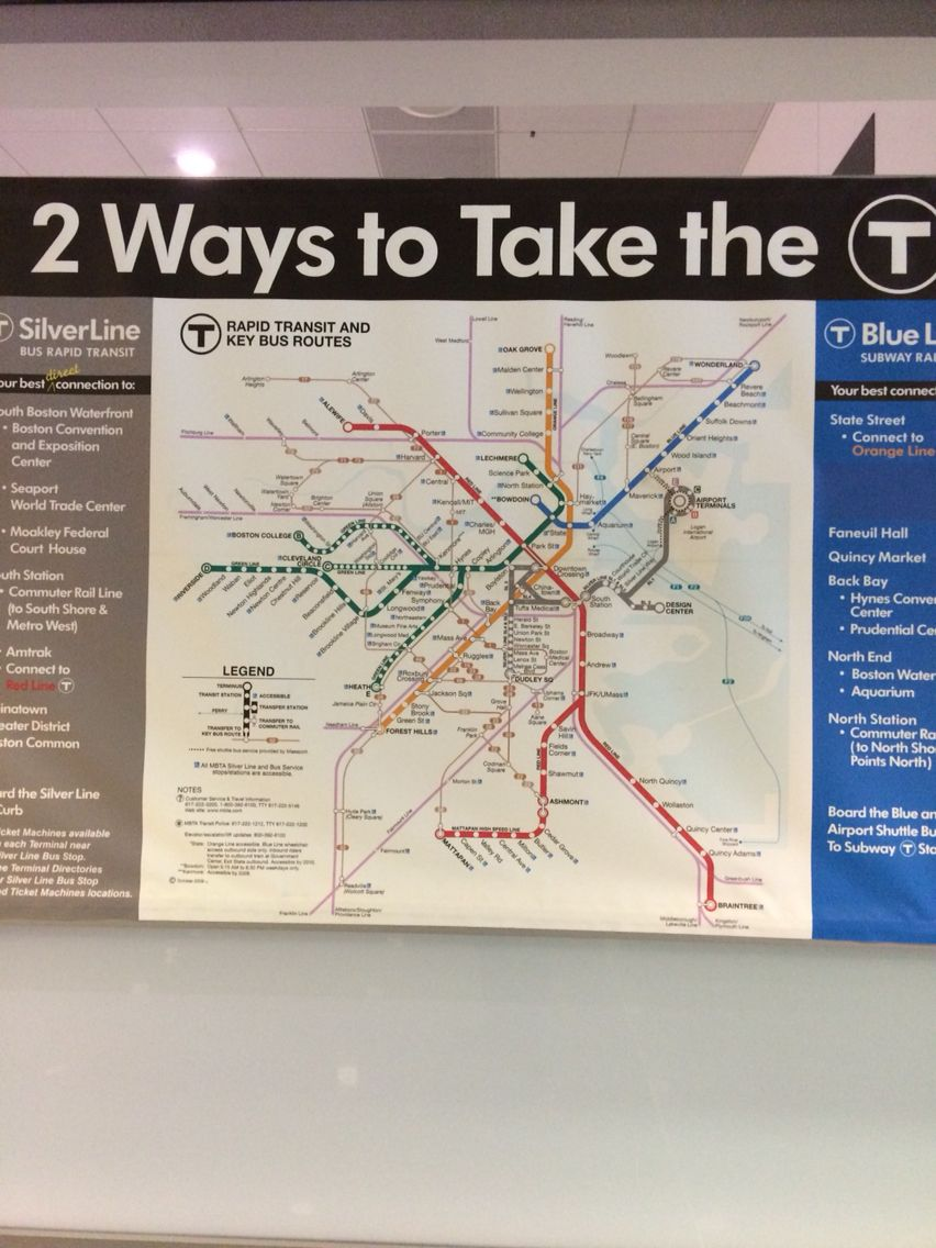 Map MBTA Boston MA USA Logan International Airport