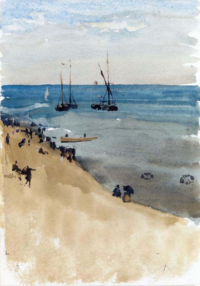 Green and Silver - The Bright Sea, Dieppe - James McNeill Whistler