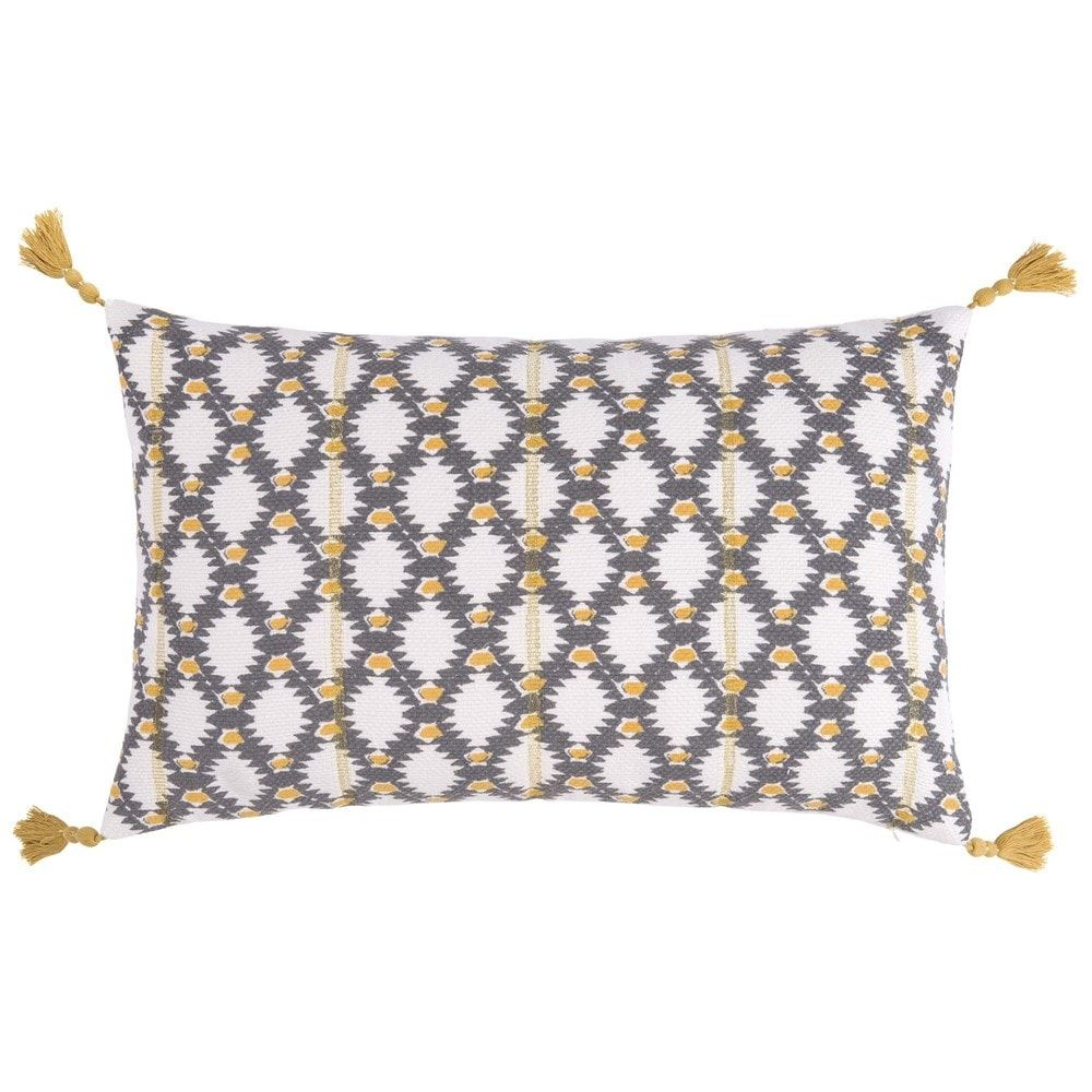 housse de coussin en tissu motifs 50x30 maisons du monde maisons du monde pinterest. Black Bedroom Furniture Sets. Home Design Ideas