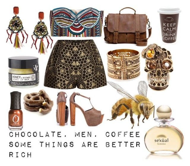 """Chocolate, men, coffee"" by limunka ❤ liked on Polyvore featuring Mara Hoffman, Jessica Simpson, Roots, Alexander McQueen, Lucky Brand, Dolce&Gabbana, Toast, ORLY and Michel Germain"