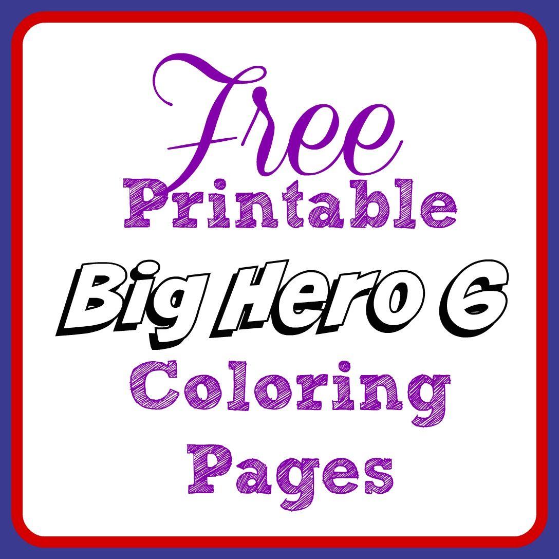 Free Printable Big Hero 6 Coloring Pages