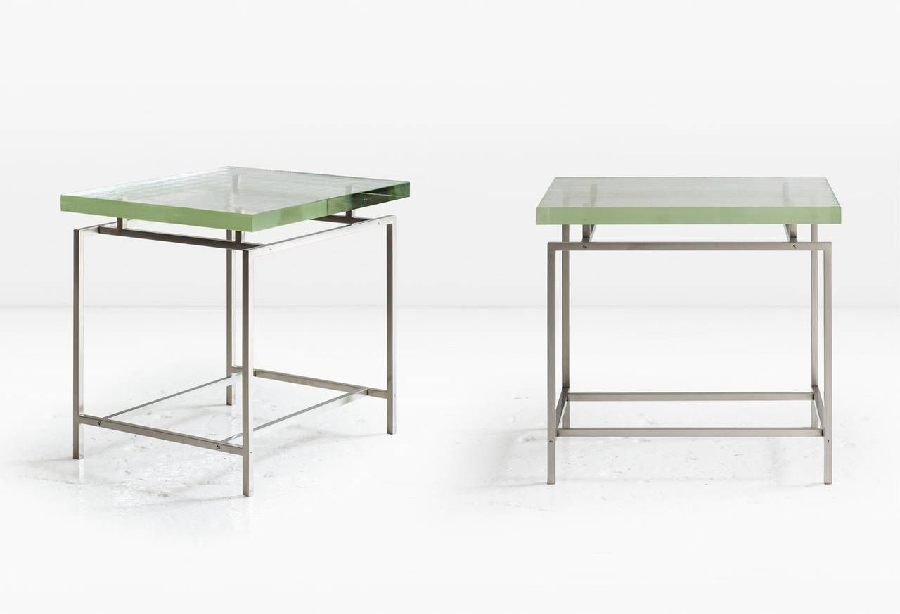 Frazier Side Table With Thick Borosilicate Glass Top And Silicon Bronze Base Side Table Table Table Furniture [ 873 x 1280 Pixel ]