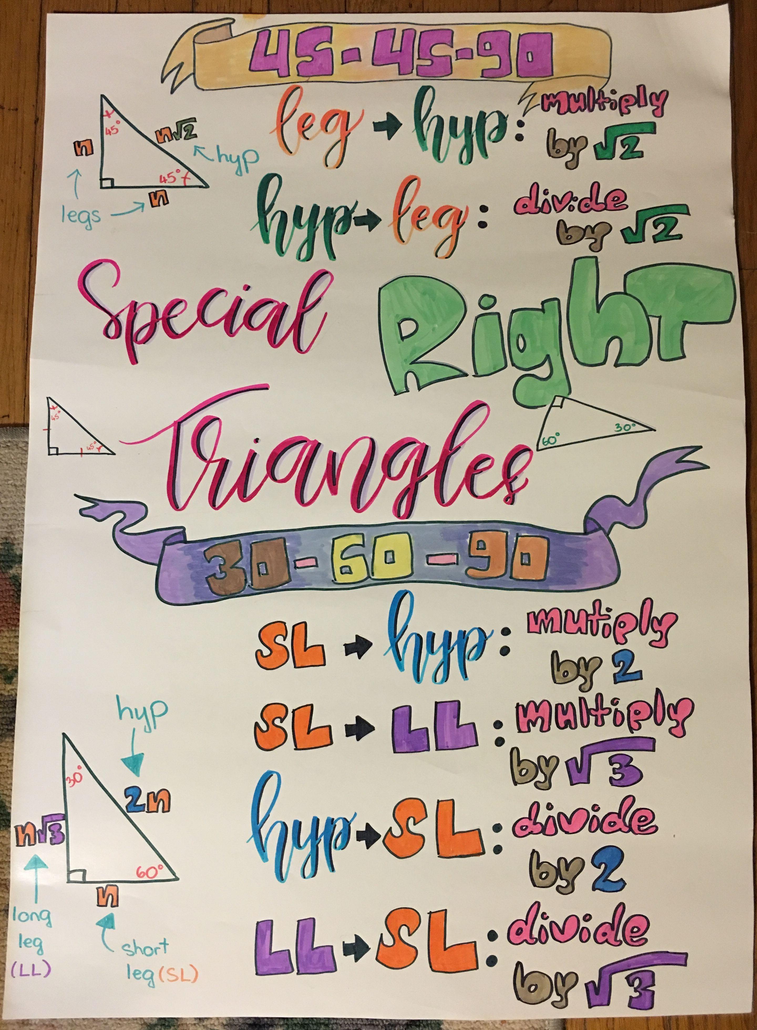 Special Right Triangles Special Right Triangle Right Triangle Triangle Worksheet [ 3920 x 2881 Pixel ]