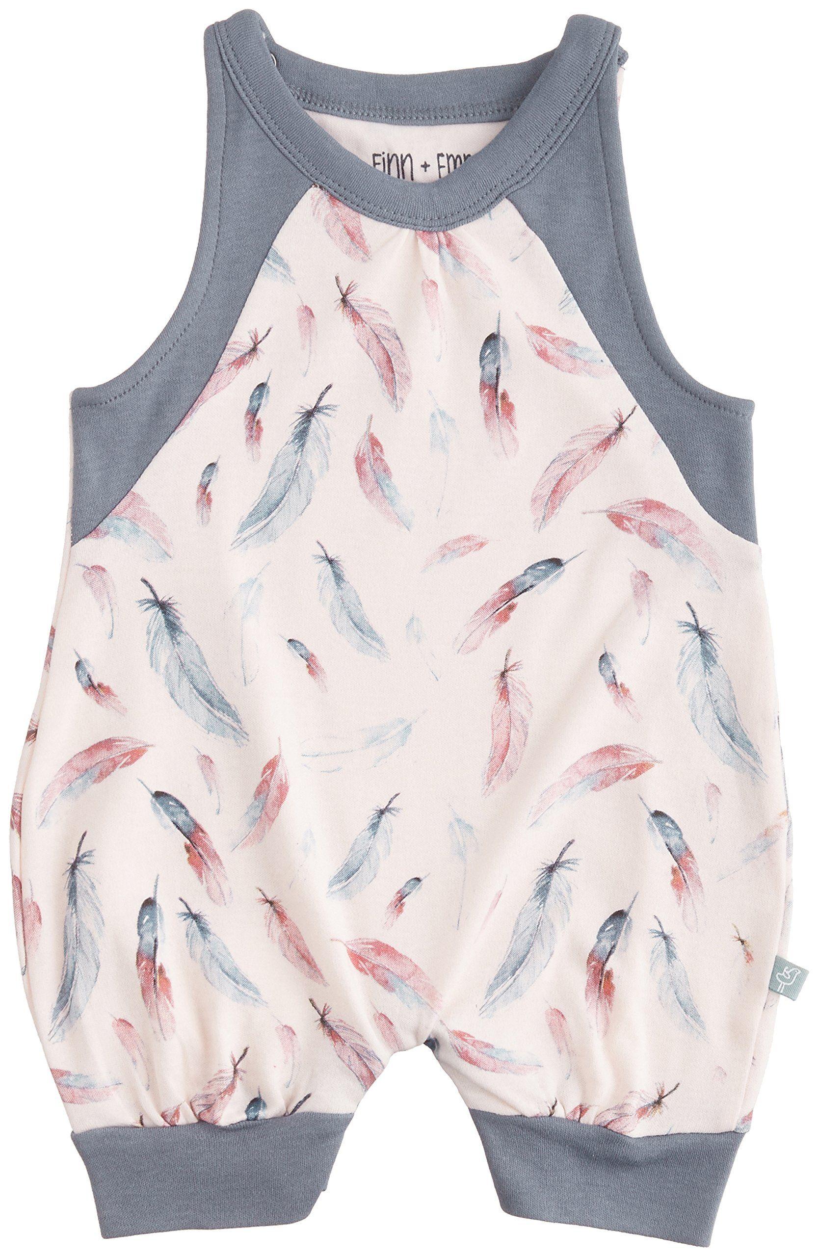 Amazon.com: Finn + Emma Baby Girl Organic Cotton Romper: Clothing