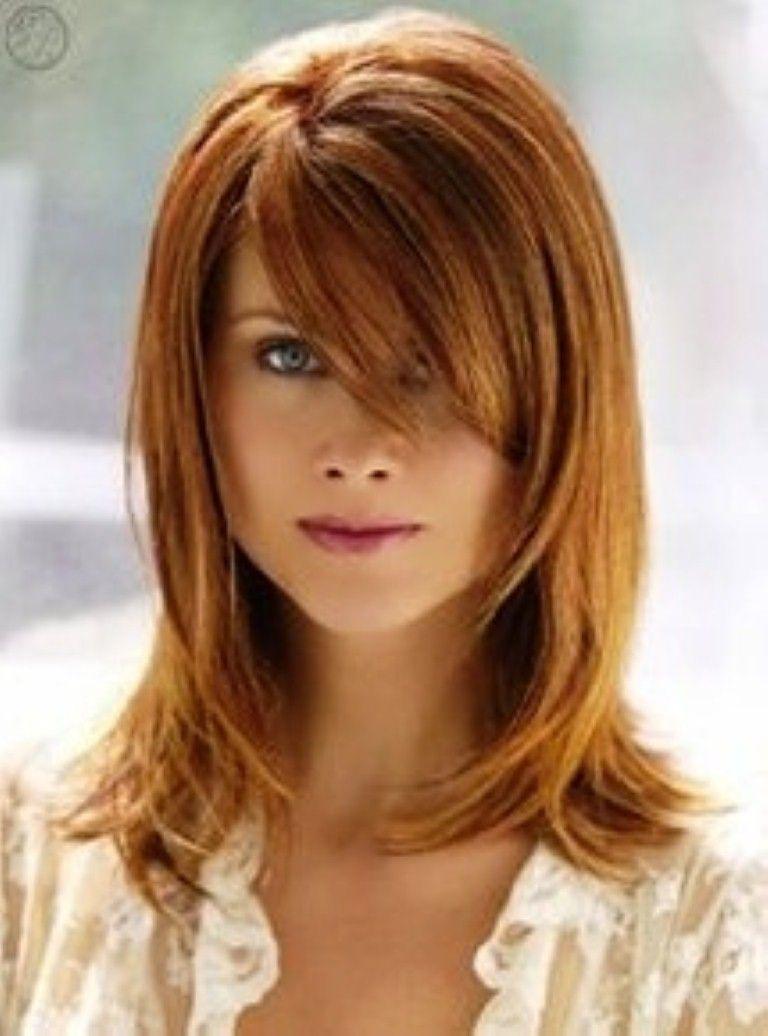 Cool Medium Length Hairs Bangs And Cute Hairstyles On Pinterest Short Hairstyles Gunalazisus