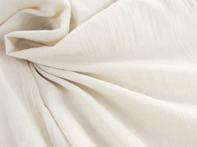 Baumwolle rein - Baumwolle Crinkle - Champagner #10055-1012 - ein Designerstück von Stoff-Schatzkiste bei DaWanda
