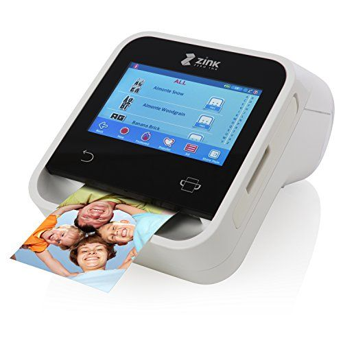 ZINK Wireless Touchscreen Printer. Wi-Fi Enabled. Built In App for Editing and Printing Photo & Labels On-The-Go. Prints Directly and from IOS & Android Smart Devices.