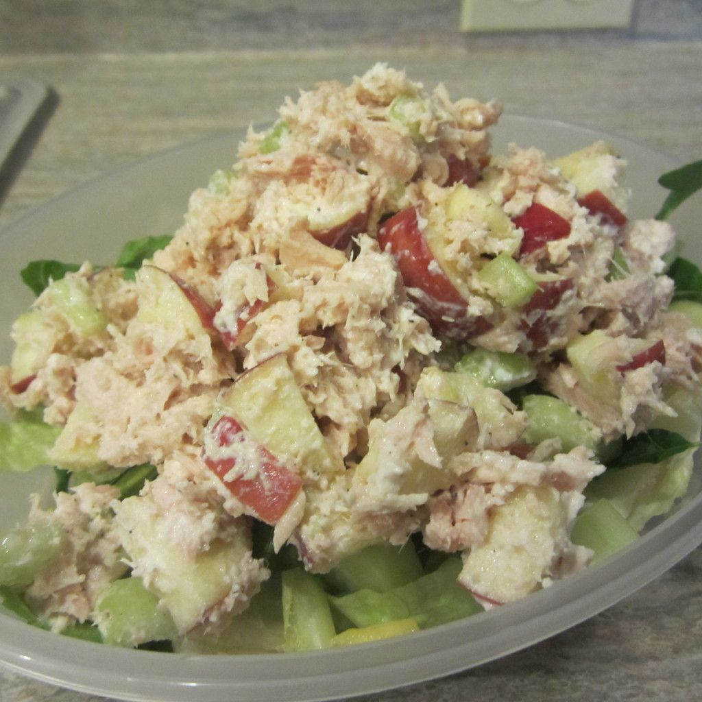 Tuna salad with Greek yogurt Can add lemon juice, apple