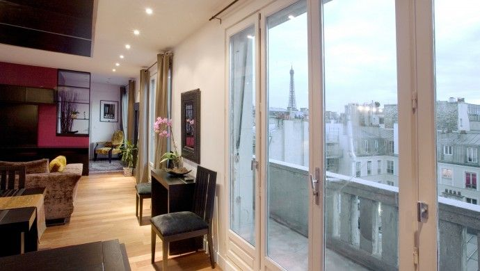 The Eiffel Tower seems so romantic to us, but some people have the view always from their balcony. 26U Kleber 1, #Paris #France #iGottaTravel