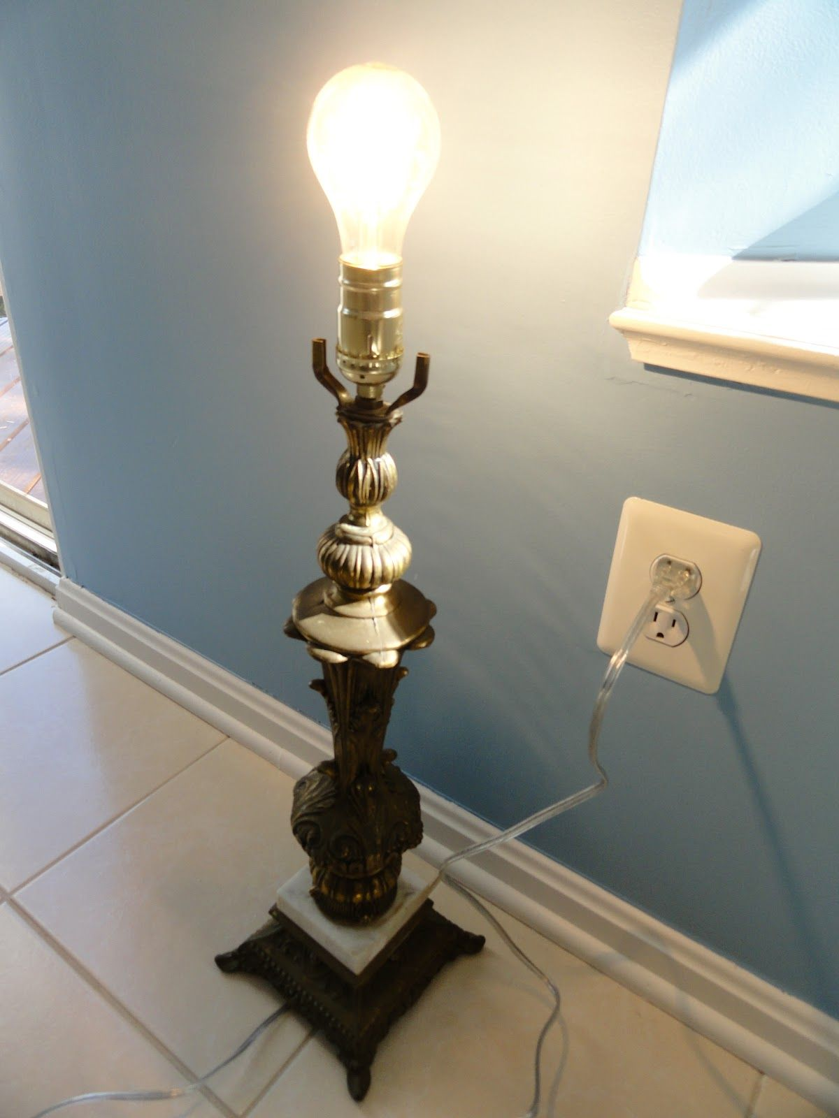 first if you missed the lamp makeover check it out here i m rh pinterest com Floor Lamp Rewire Kit Rewire Lamp Socket