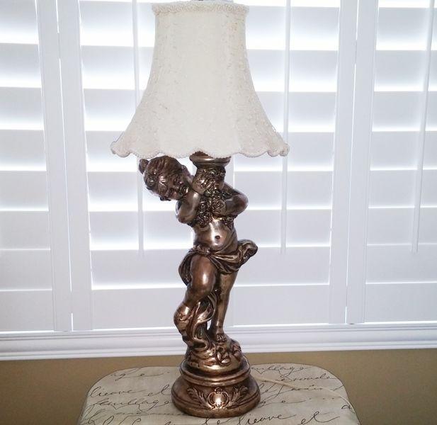 Vintage metal spelter gold gilt angel cherub lamp shade 26 tall vintage metal spelter gold gilt angel cherub lamp shade 26 tall hollywood reg aloadofball Gallery