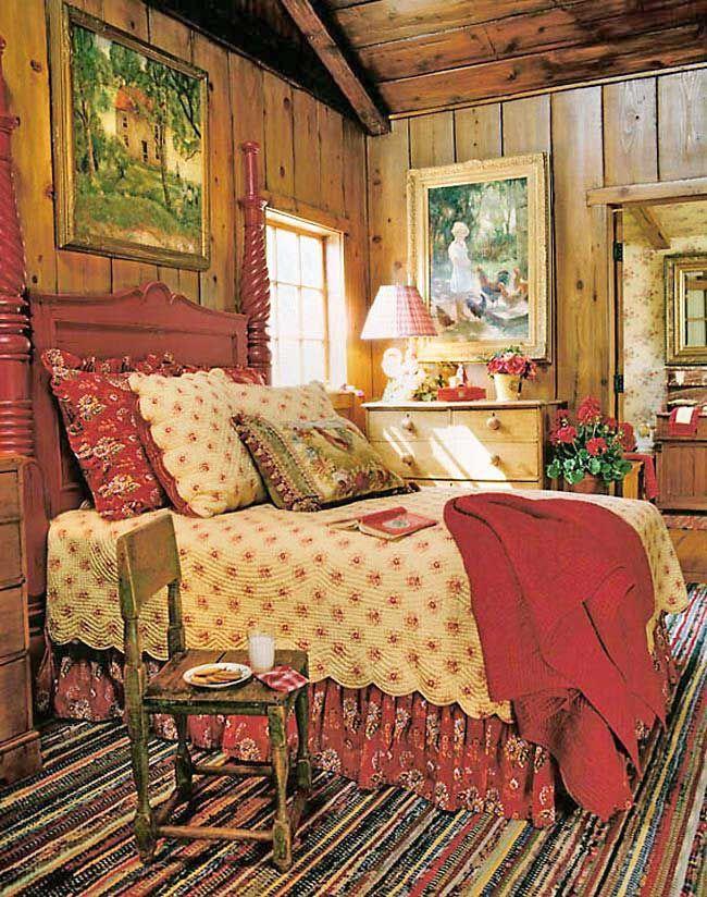 Knotty Pine Bedroom Decoracao De Casa Quarto Country Mesa De Cama