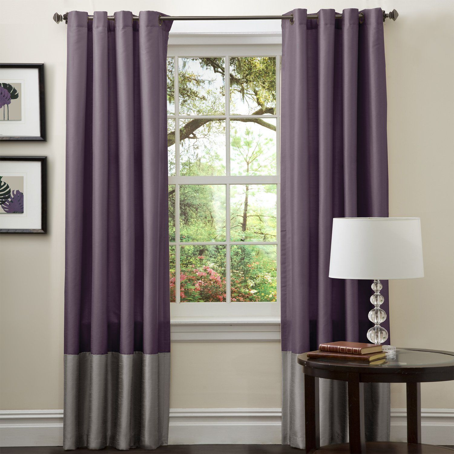inch dainty curtains shades window set com dp amazon panels kitchen home purple blue curtain by pocket panel rod