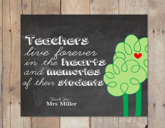 Teacher appreciation Gift  Teachers live by PinknPurplePress, $6.00
