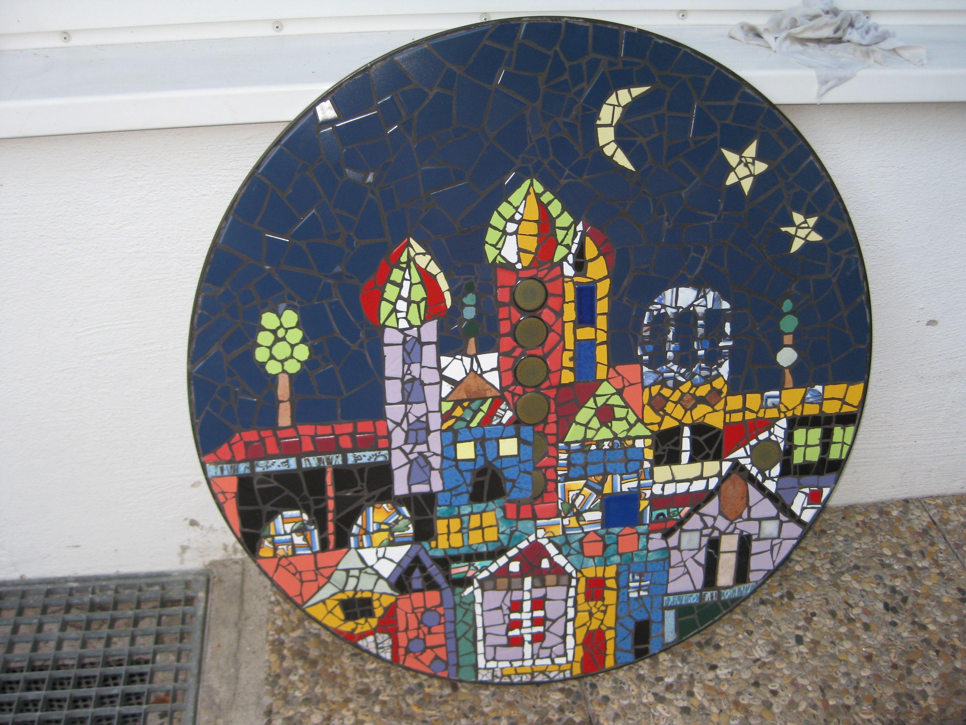 Hundertwasser - Kanaldeckel   My own Mosaics / Meine eigenen Mosaike ...