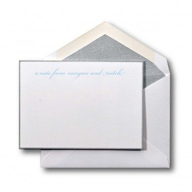 Create your own Small Social Collection Note Card Set in Silver - collection note