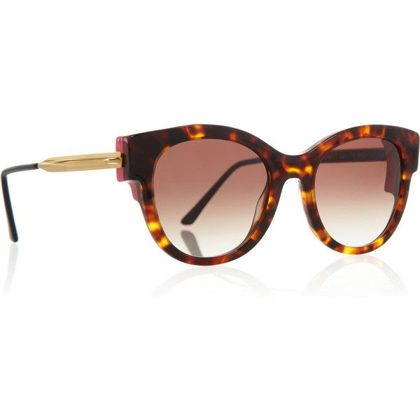 Thierry Lasry Angeley round-frame tortoiseshell-acetate sunglasses ($435) ❤ liked on Polyvore