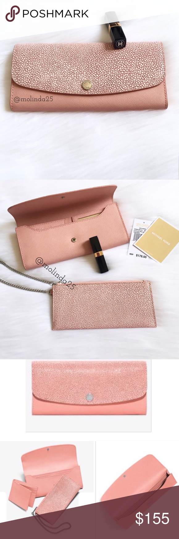 97464ec70db6 MICHAEL Michael Kors Juliana Large Wallet Absolutely Stunning MICHAEL  Michael Kors Juliana Large 3-IN-1 Saffiano Leather Wallet Color  Pale Pink  Perfect ...