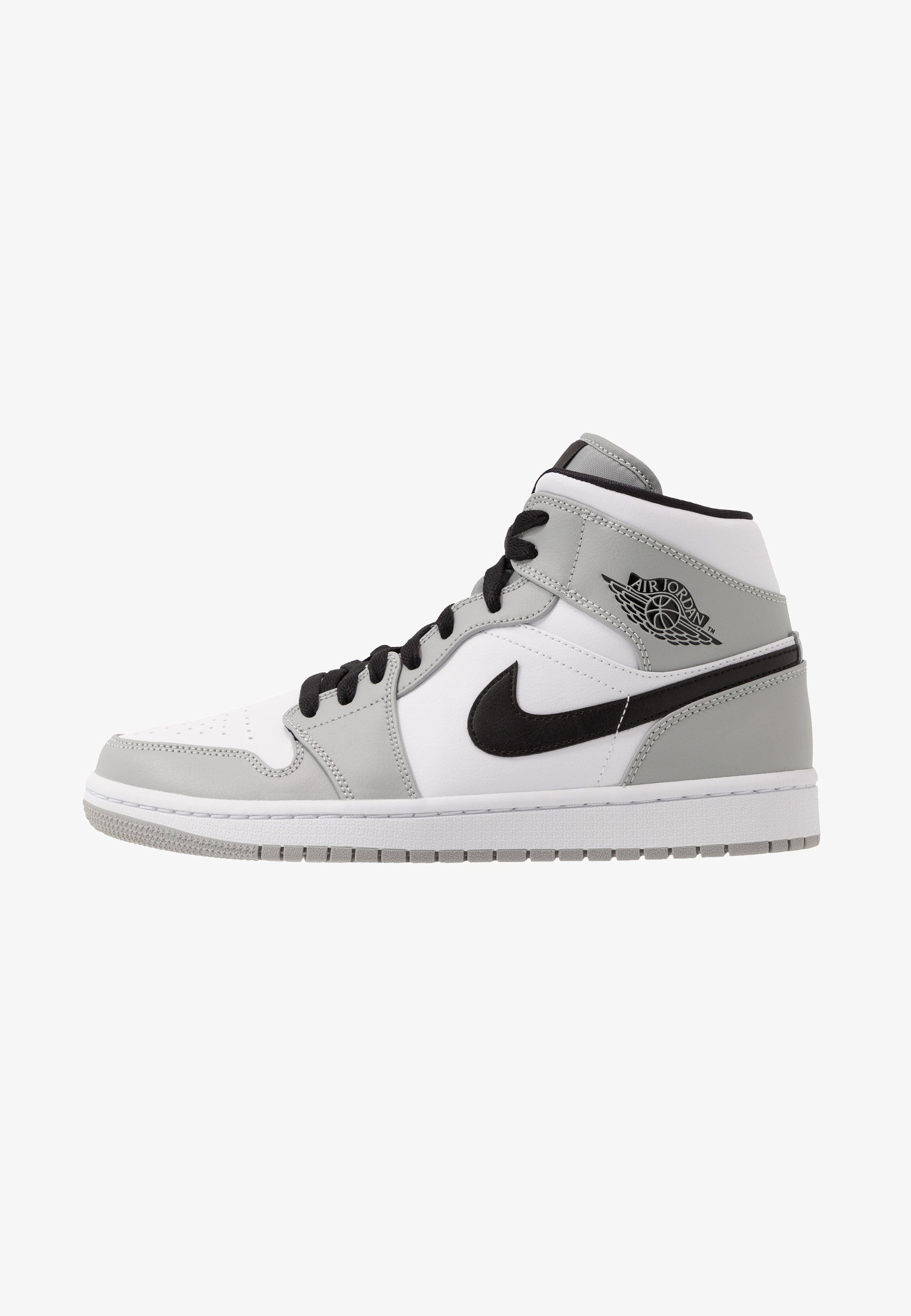 Jordan AIR 1 MID - Sneakers alte - light smoke grey/black ...