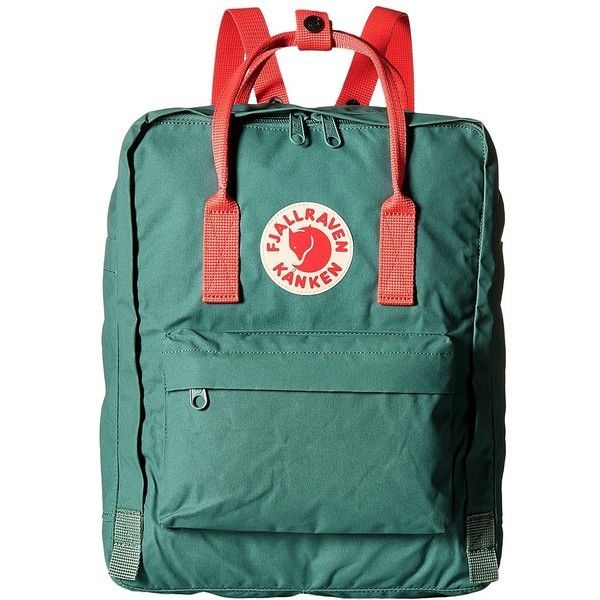 Fjallraven Kanken Frost Green Peach Pink Backpack Bags 80 Liked On Polyvore Featuring Bags Backpacks Water Bot Fjallraven Kanken Kanken Green Tote Bag