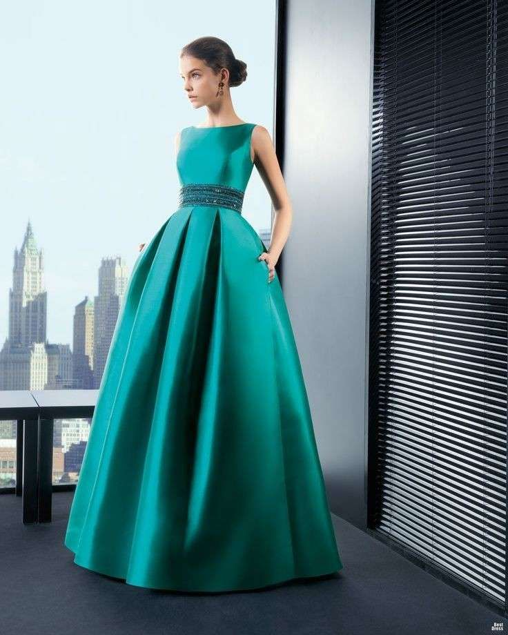 the best attitude d098b 7cd1a Abiti da sera colore verde smeraldo | WEDDING | Abiti, Abiti ...