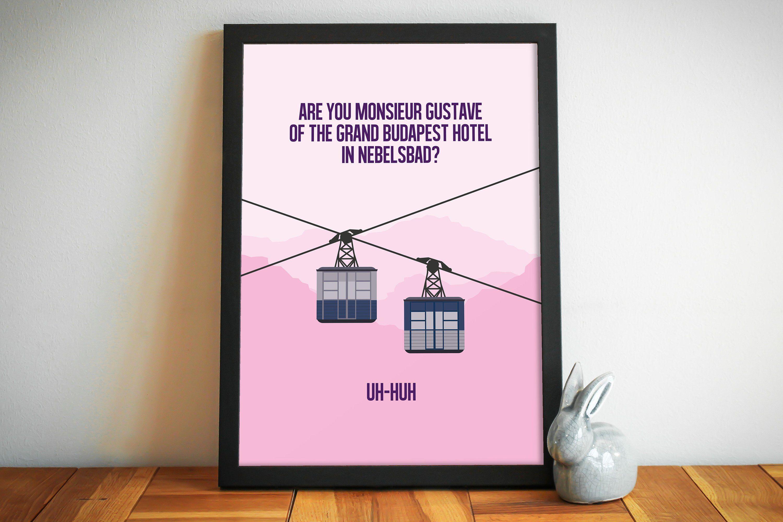 GRAND BUDAPEST HOTEL Minimalist Movie Poster Minimal Print Wes Anderson Art