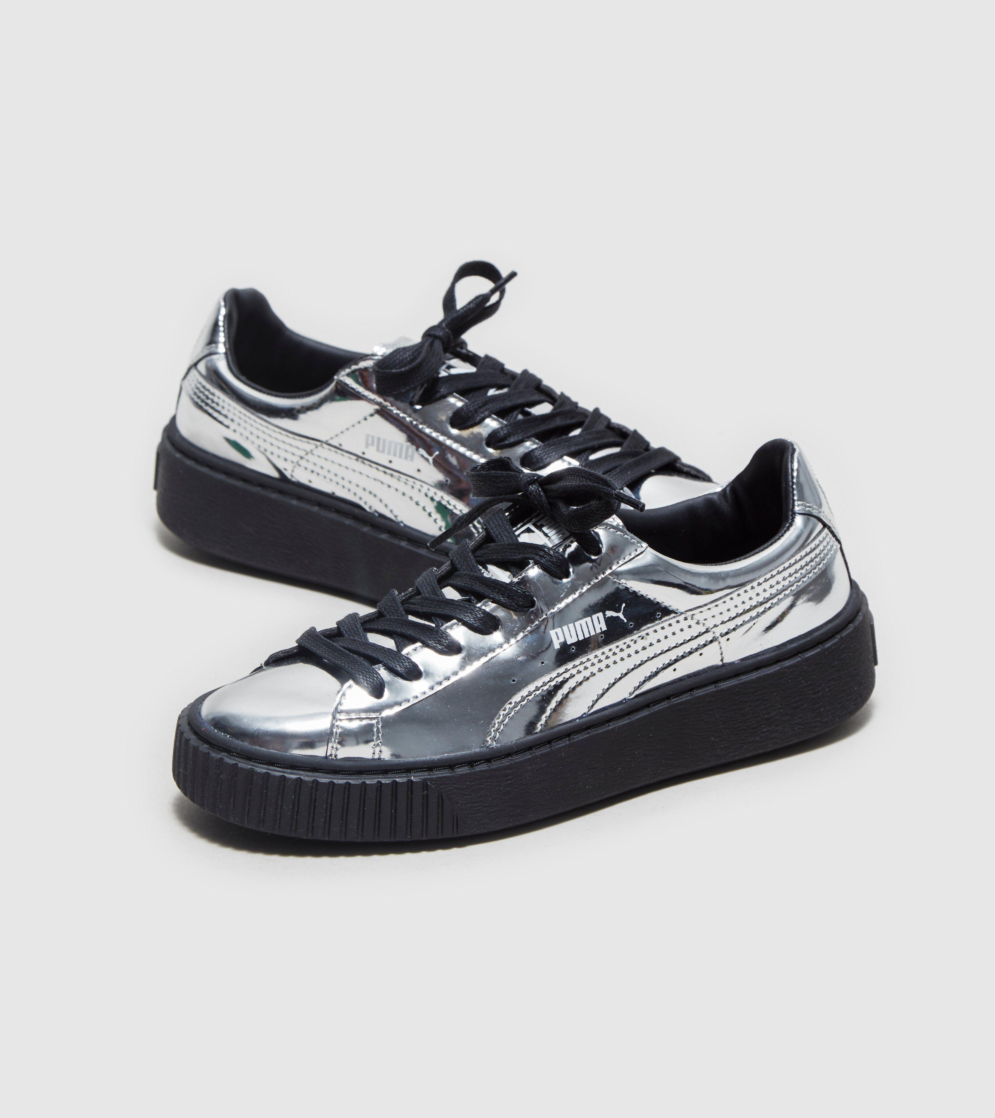 puma basket sneakers metallic