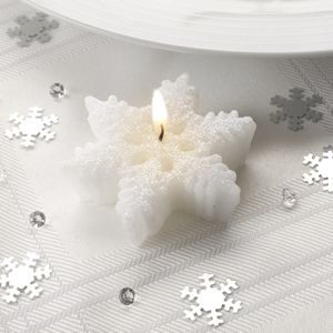 snowflake table decorations.htm www dazzle uk com small shimmering snowflake candle p  www dazzle uk com