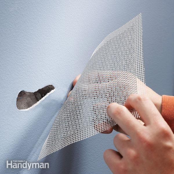 Use Aluminum Mesh For Fast Drywall Repair Drywall Repair Preparing Walls For Painting Home Repair