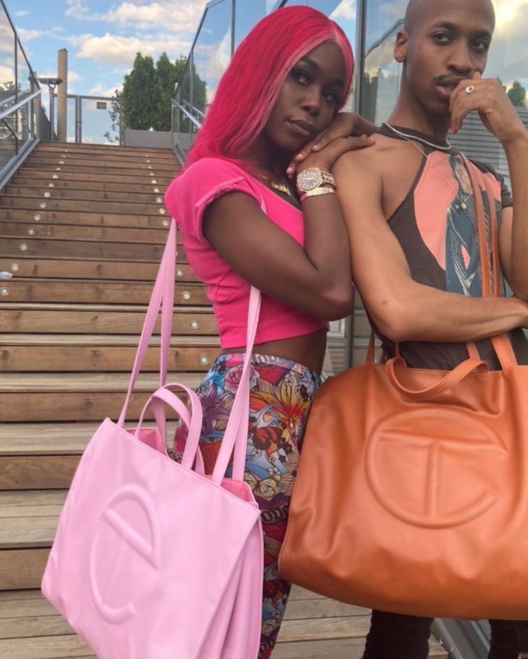 African Queen Large Tote bag Pink