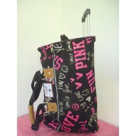 NWT Rare Cute Victoria's Secret Love Pink Travel Wheelie Large ...