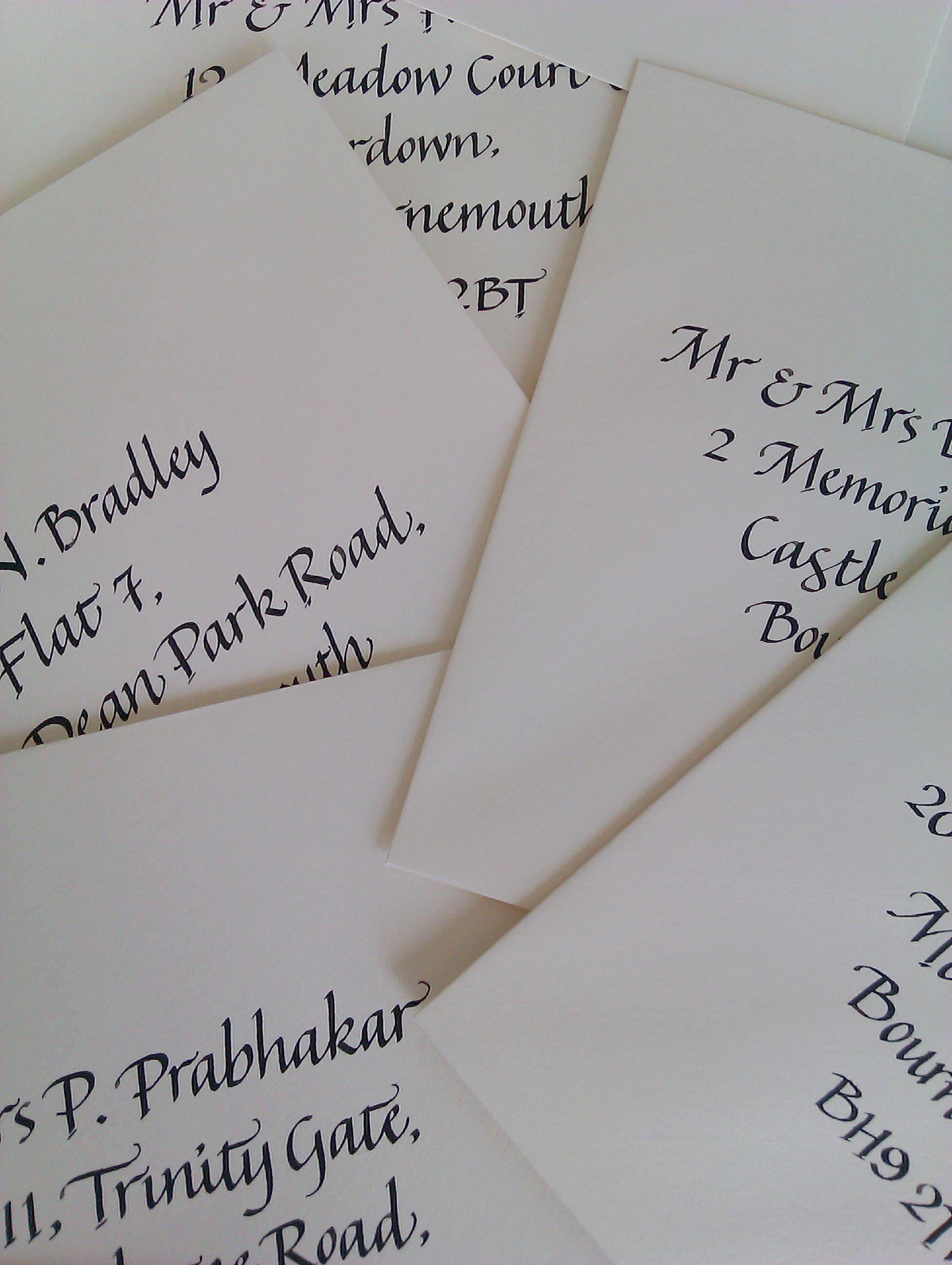 Italic Calligraphy Envelopes