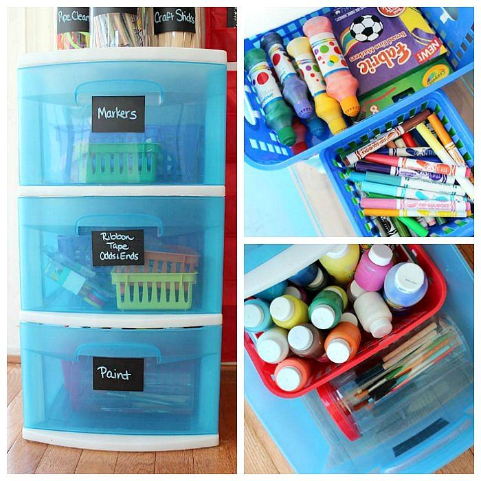 how to organize kids art supplies in a small space kids toy organization art supplies. Black Bedroom Furniture Sets. Home Design Ideas