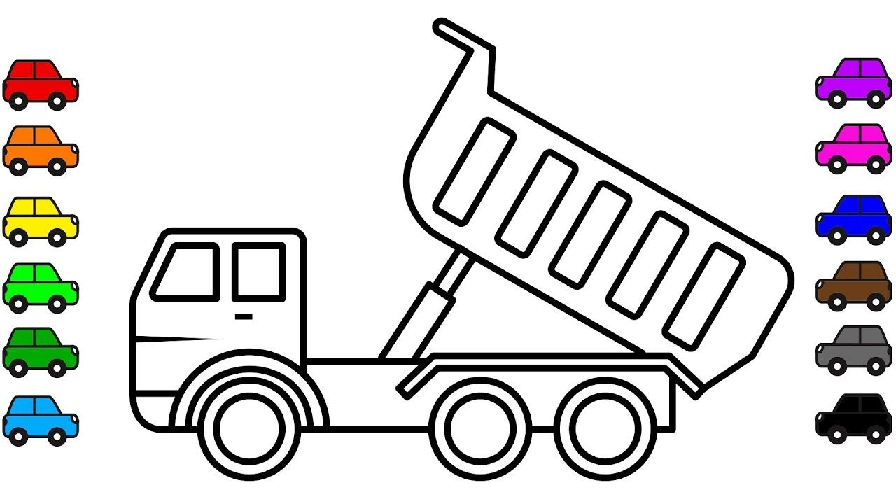 Construction Truck Dump Truck Colouring Pages For Kids Learn