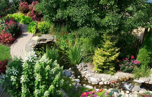 Any style of garden can incorporate Feng Shui principles from the