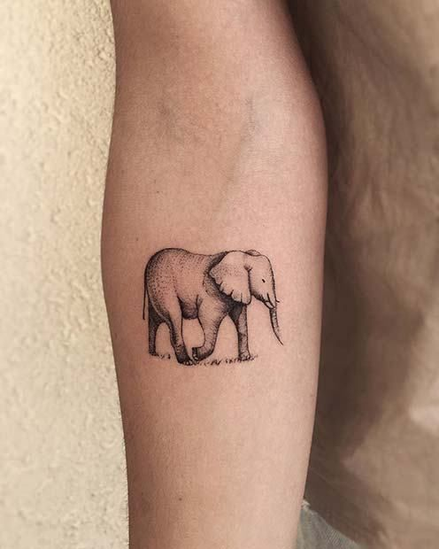 21 Cool Nail Art Ideas: 21 Cool And Creative Elephant Tattoo Ideas