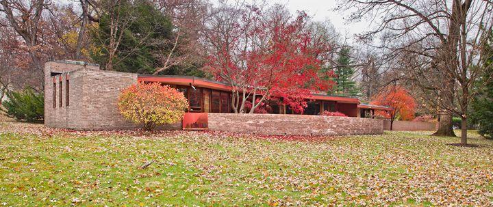 Kenneth Laurent House. Rockford, Illinois. 1949-52. Frank Lloyd Wright. Usonian.