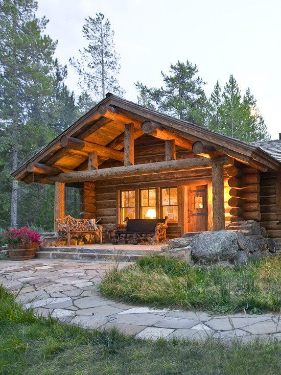 Log cabin in the woods | Cabins I love. | Pinterest | Log cabins ...