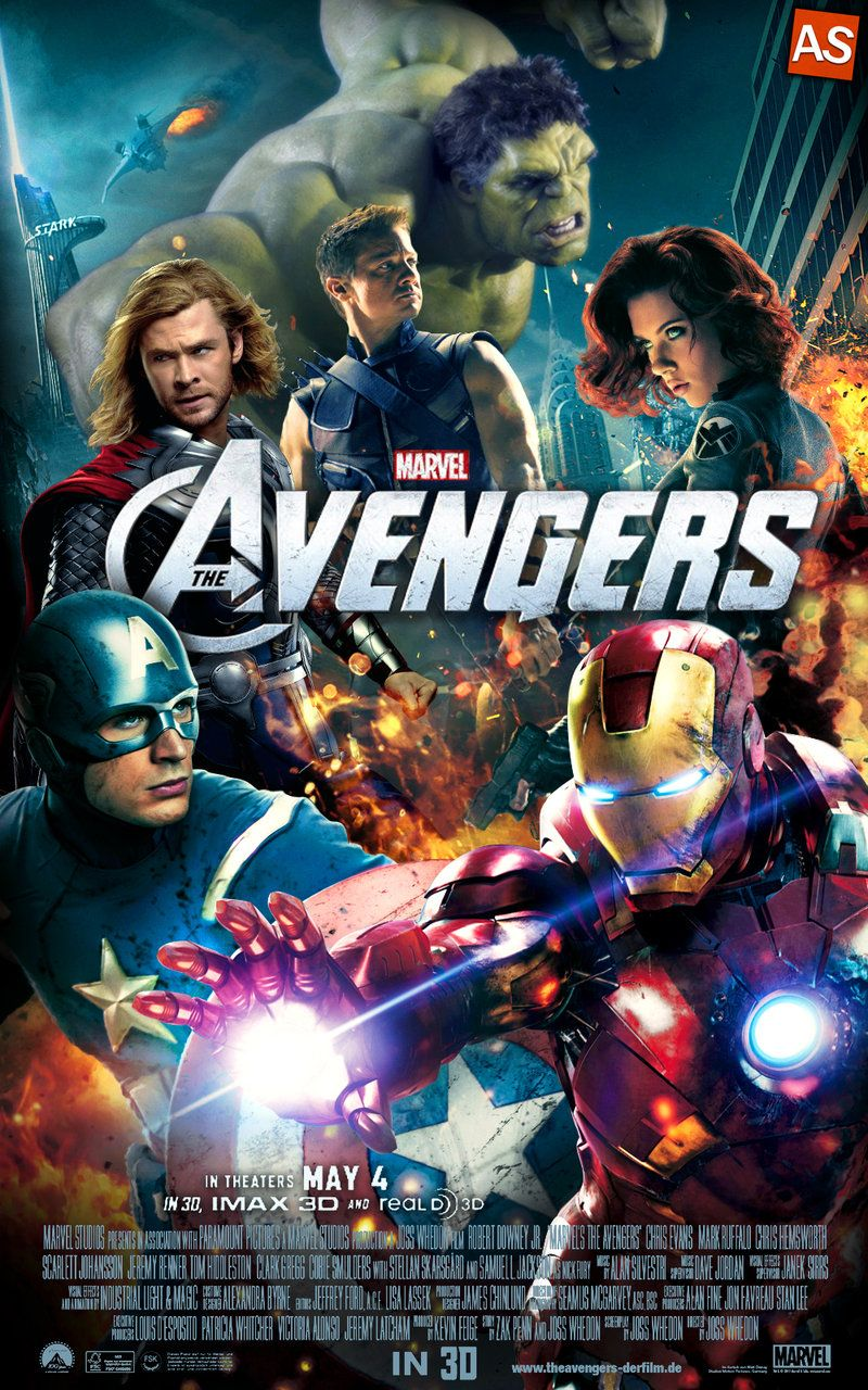 The Avengers Movie Poster By Andrewss7 On Deviantart Avengers Movie Posters Avengers Movies Marvel Movie Posters