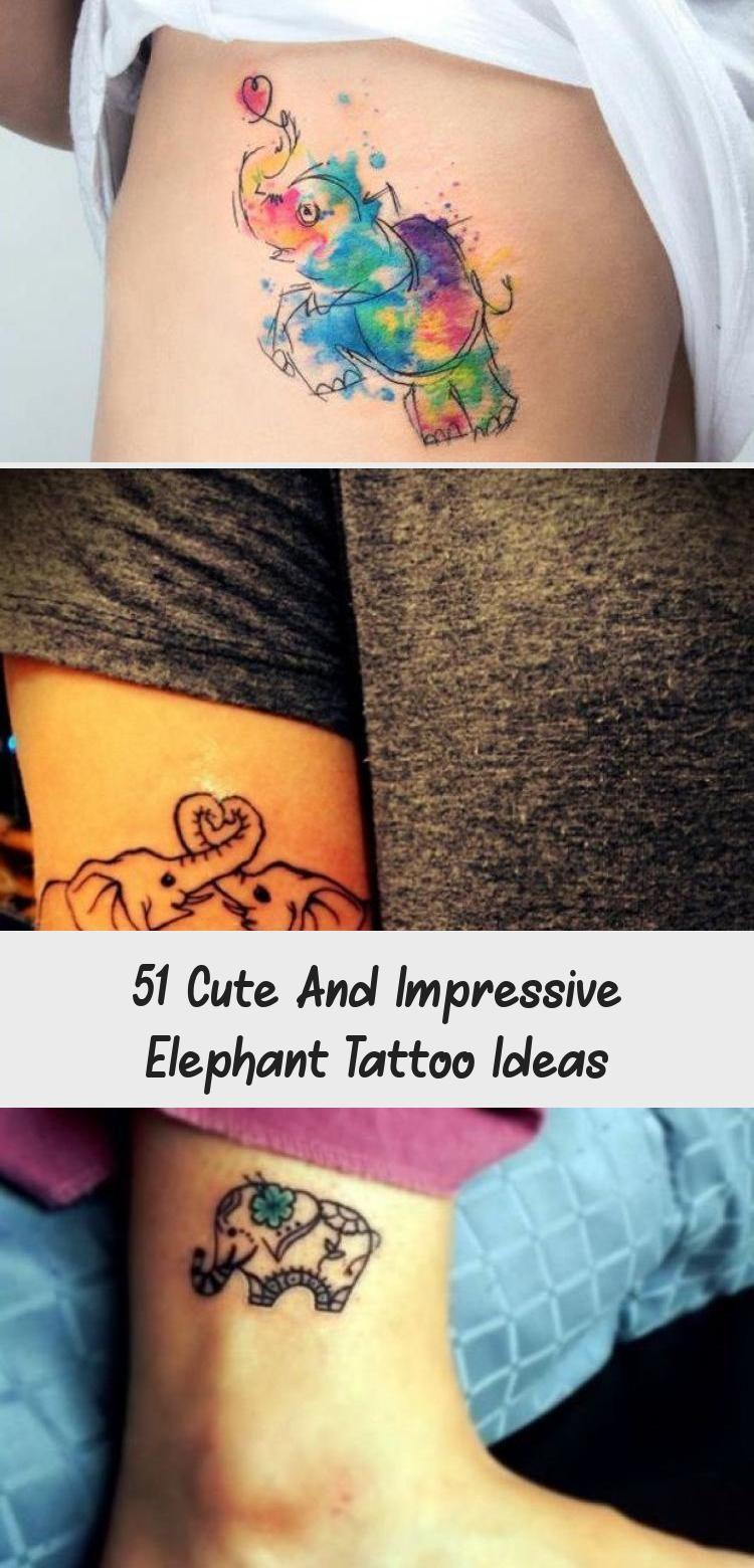 51 Cute And Impressive Elephant Tattoo Ideas Tattoos and